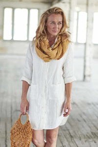 Scarf Loop Linen Gold