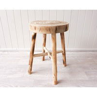 Side Table/ Stool Rustic Timber