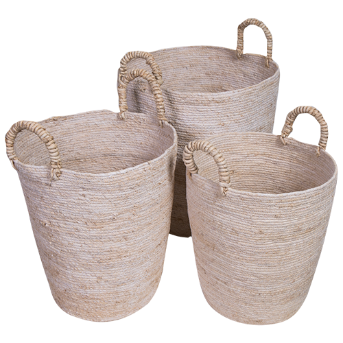 Baskets Seagrass Set Of 3