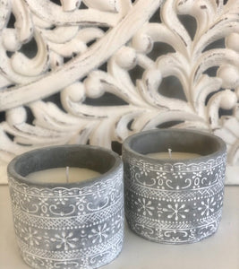 Candle Cement Pot