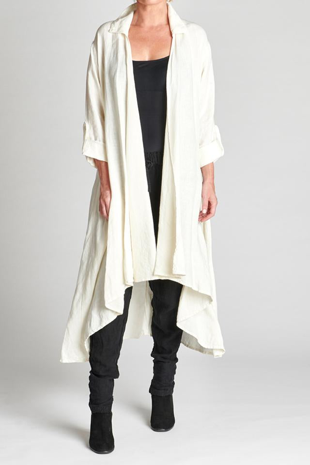 Coat 100% European Linen White