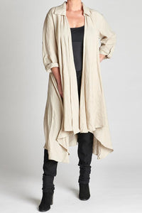 Coat 100% European Linen Natural
