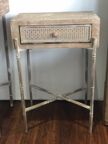 Side Table Rattan one drawer