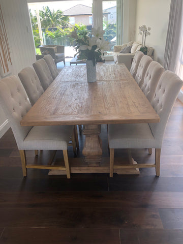 Dining Table Recycled Elm Mulhouse With  Pedestal base