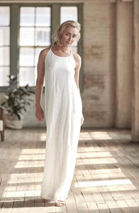 Dress Maxi European Linen White