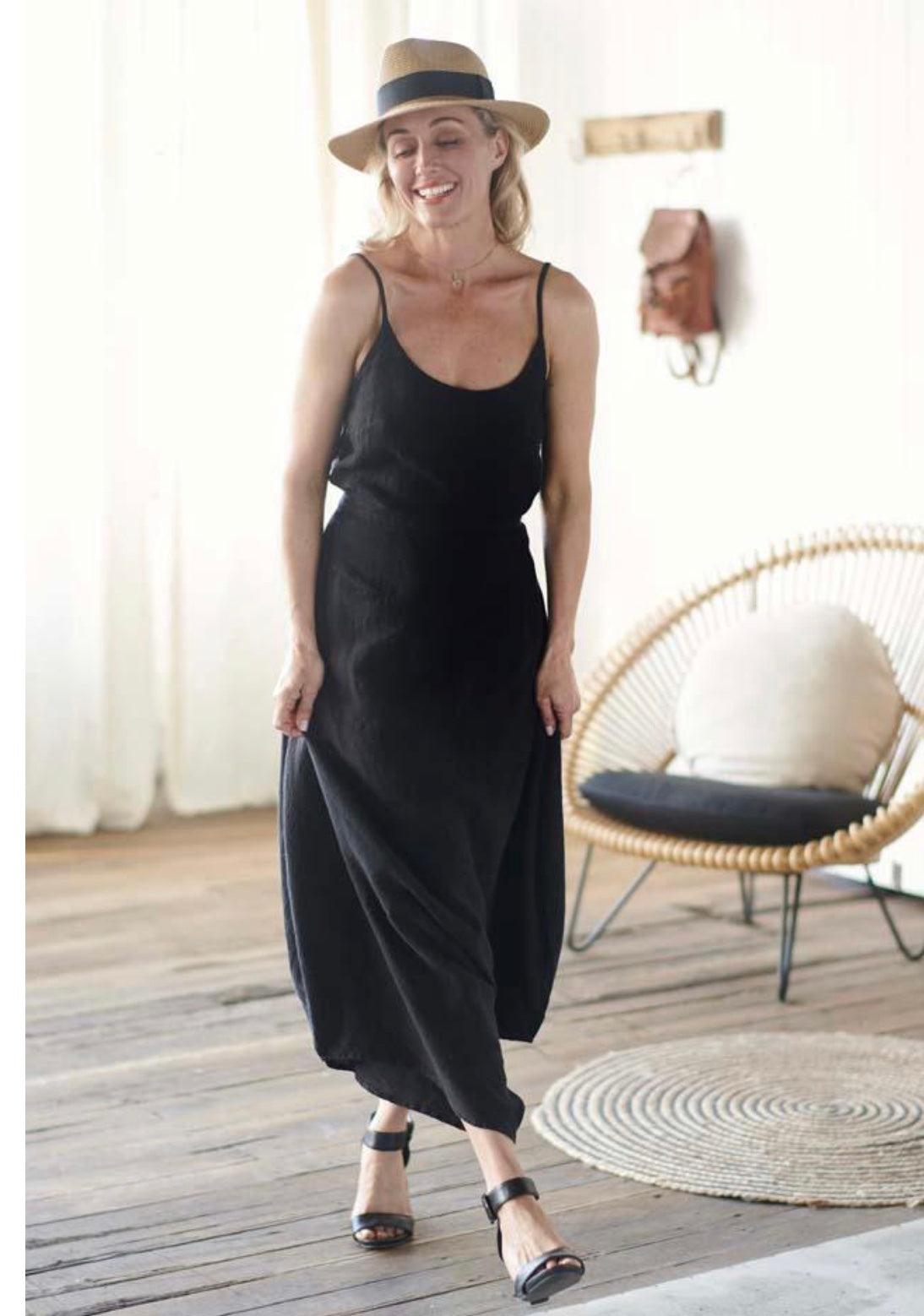 Dress Maxi European Linen Black