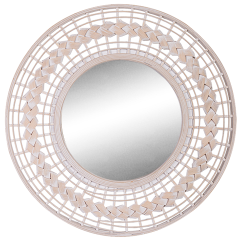 Mirror Rattan Whitewash