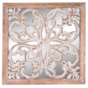 Mirror Wood Wall Decor