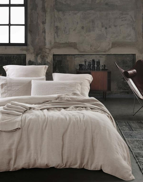 Bed Linen Heavy Weight Pure French Linen Sheet Set Natural
