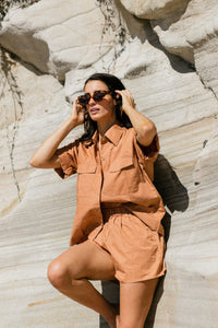 Shirt Short Sleeve Terracotta