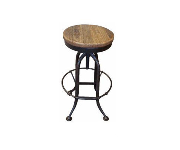 Stool Swivel Recycled Elm and Iron
