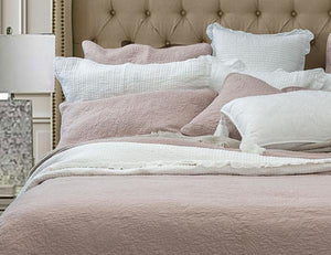 Bed Linen Cotton Coverlet  Pink Blush + 2 Matching Pillow Cases