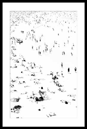 Art Bondi Beach Print Black and White By Anthony Glick