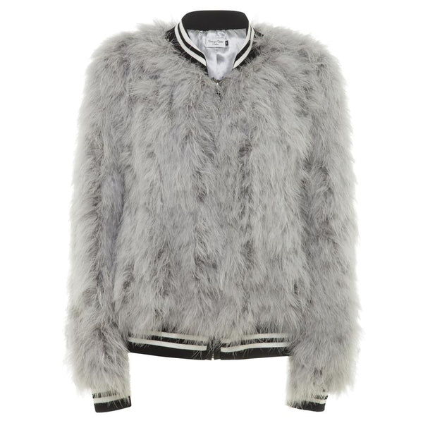 Jacket Feather Bomber  Silver