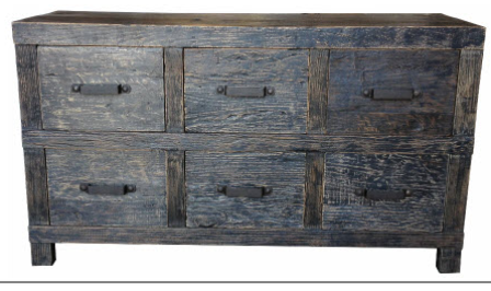 Drawers recycled blackwash timber