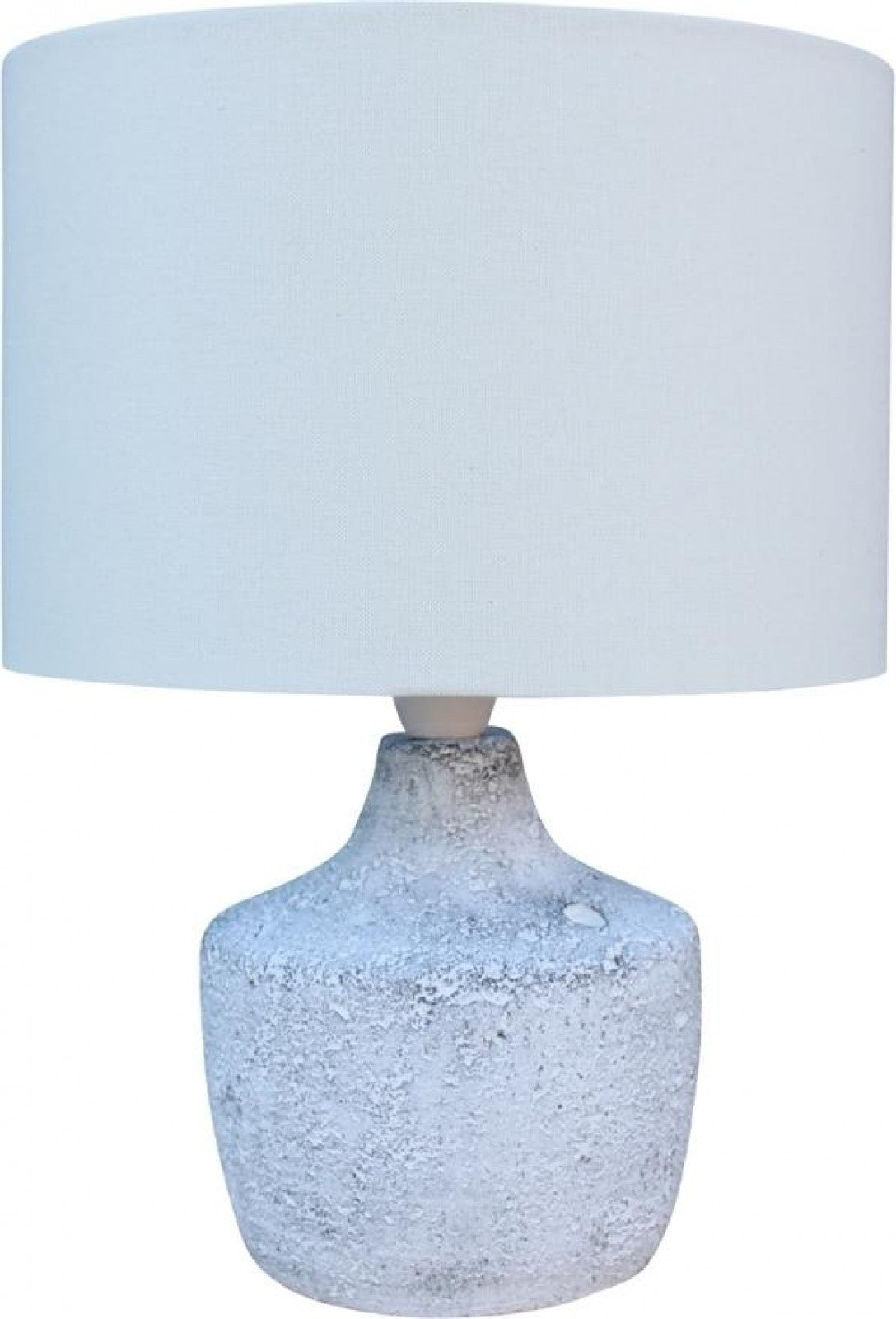 Lamp Cement Base Linen Colour Shade