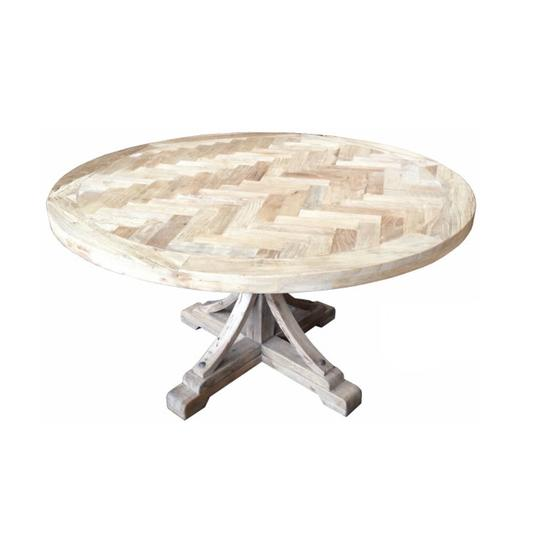 Table Brussells Round with Pedestal Base All Natural Colour in 3 sizes