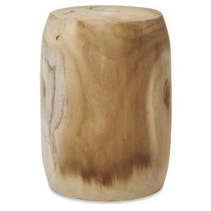 Stool /Side Table Timber Small Bleach