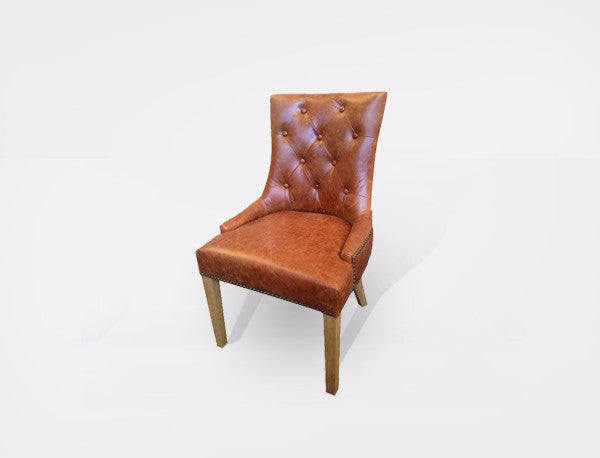 Chair Leather Monte Tan