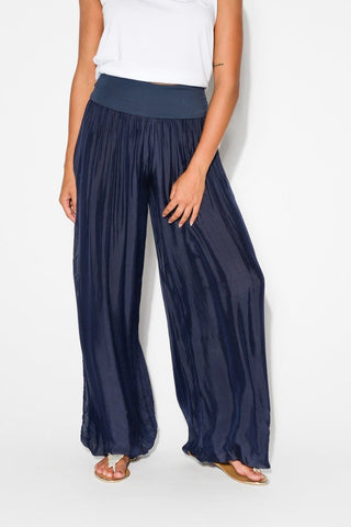 Pants - Navy Silk