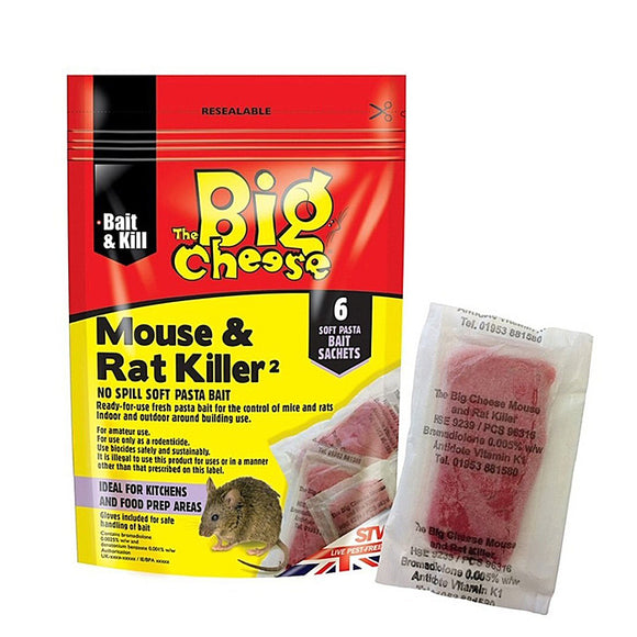 The Big Cheese Mouse & Rat Killer Soft Pasta Bait x6