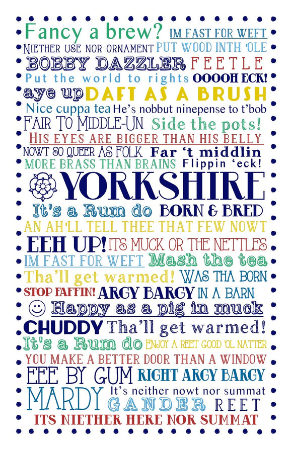 Ulster Weavers Cotton Tea Towel Yorkshire Born & Bred