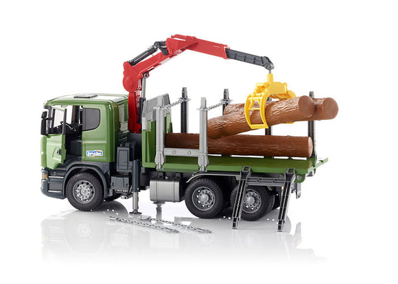 Bruder Scania R-Series Timber Truck With 3 Trunk