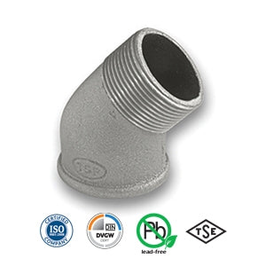 "1/2"" Galvanised MxF 45 Elbow Tube/Pipe Fitting EN10242"