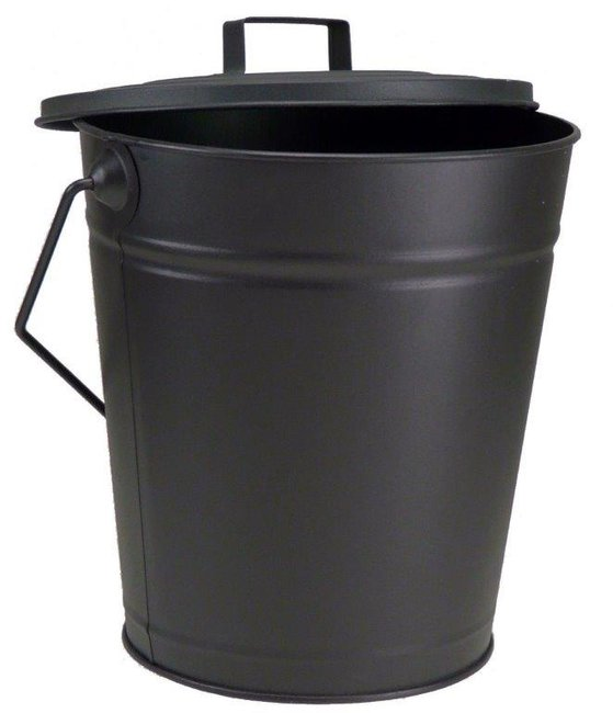 Fireside Black Coal Bucket & Lid 12