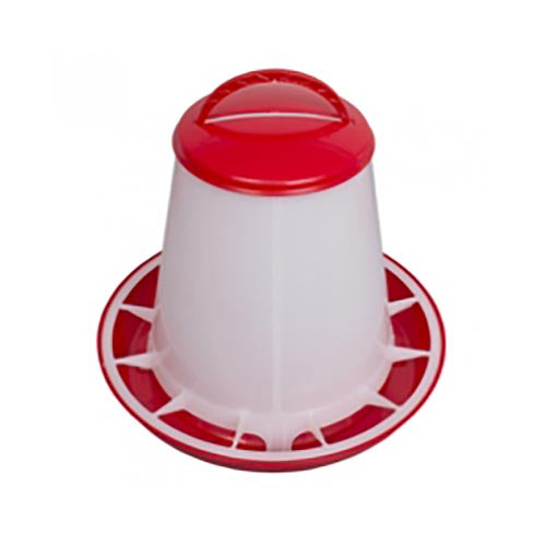 Stockshop Economy Red & White Feeder 1kg