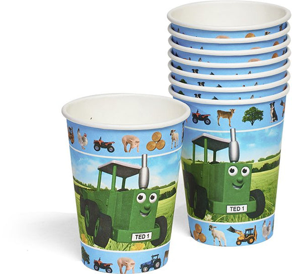 Tractor Ted Party Cups