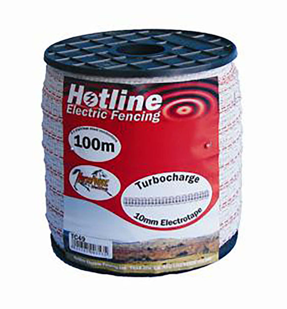 Hotline 10mm White Tape 200m