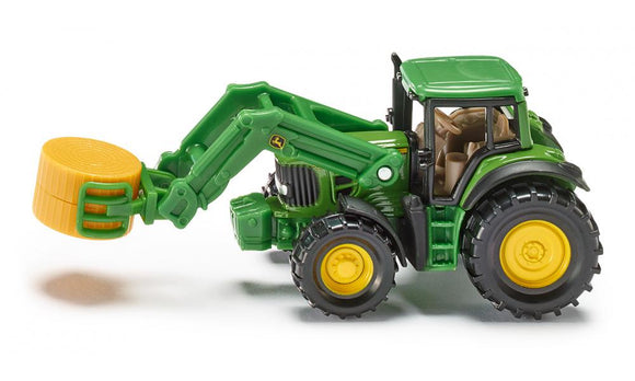 Siku John Deere Tractor Toy with Bale Gripper 1357