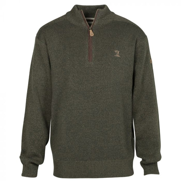 Percussion Embroidered High Neck Hunting Sweater