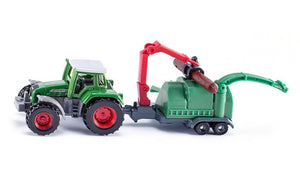 Siku Tractor with Wood Chippers 1675