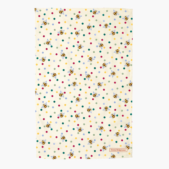 Emma Bridgewater Bumblebee & Small Polka Dot Tea Towel