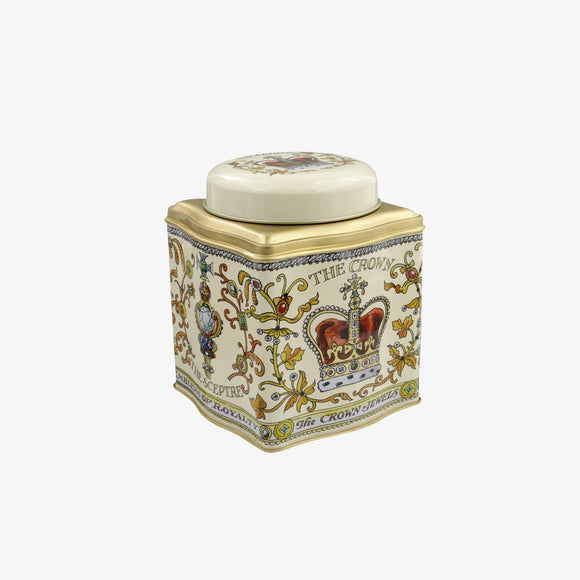 Emma Bridgewater The Crown Jewels Dome Lid Curved Tin Caddy