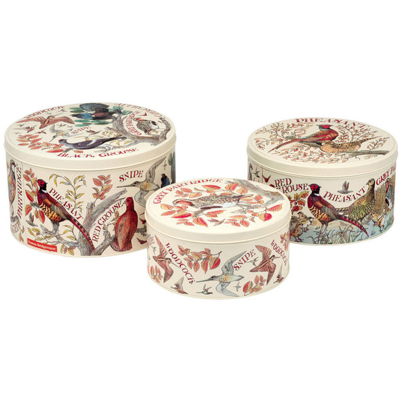 Emma Bridgewater Game Birds Cake Tins Set of 3
