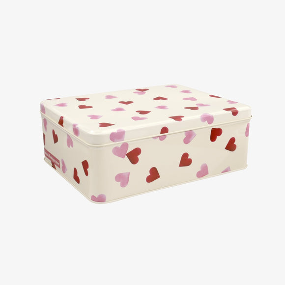 Emma Bridgewater Pink Hearts Medium Shallow Tin