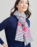 Joules Flora Embroidered Cotton Scarf