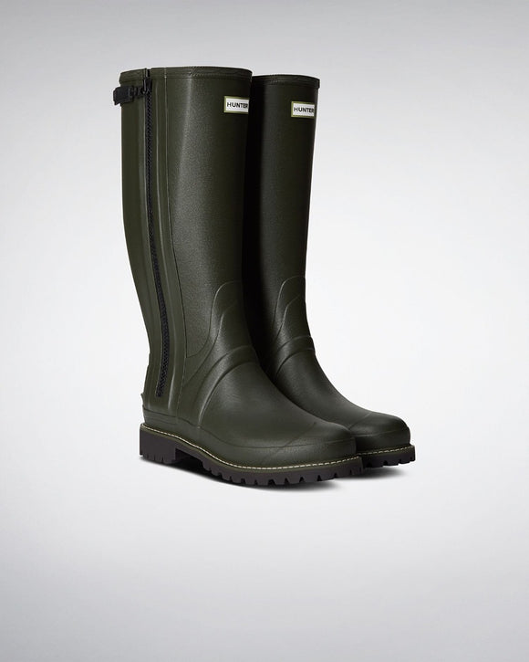 Hunter Boots Balmoral Full Rubber Zip Wellington Boots