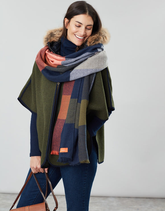 Joules Berkley Oversized Check Scarf