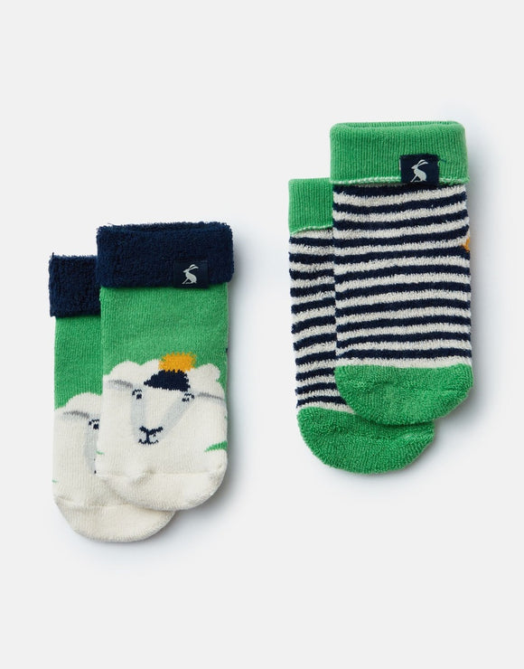 Joules Baby Boys Terry 2-Pack Towelling Socks