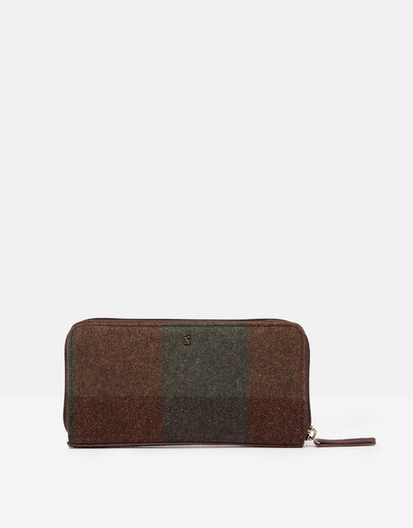 Joules Fairford Tweed Zip Around Purse