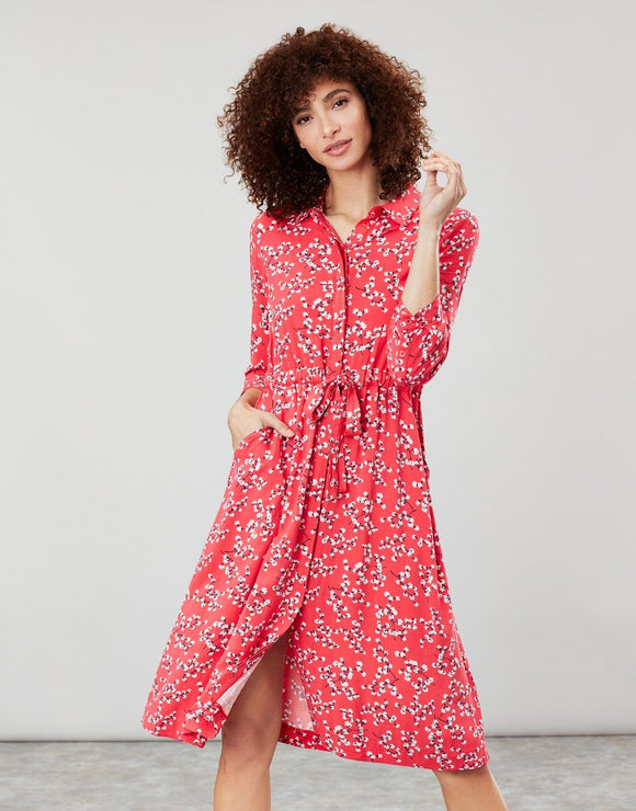 Joules Winslet Long Sleeve Button Front Dress SS20