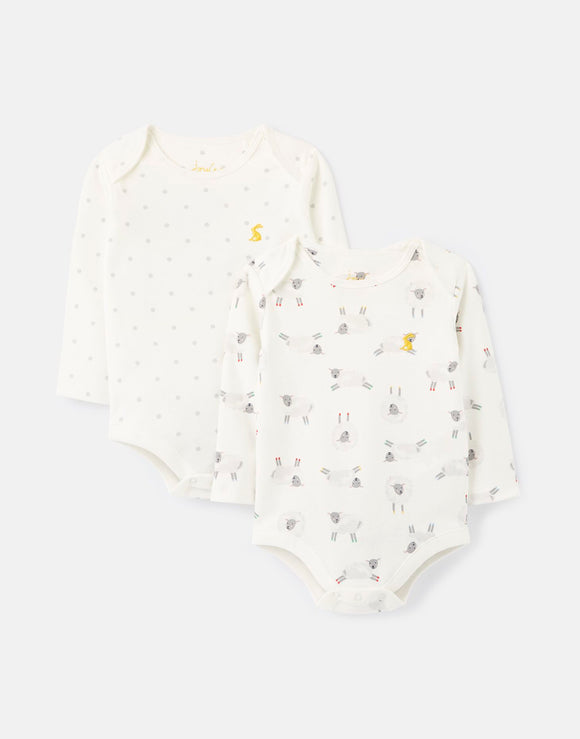 Joules Bodysuit 2-Pack Organic Grown Cotton