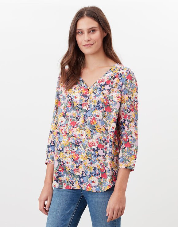 Joules Briella V Neck Woven Top