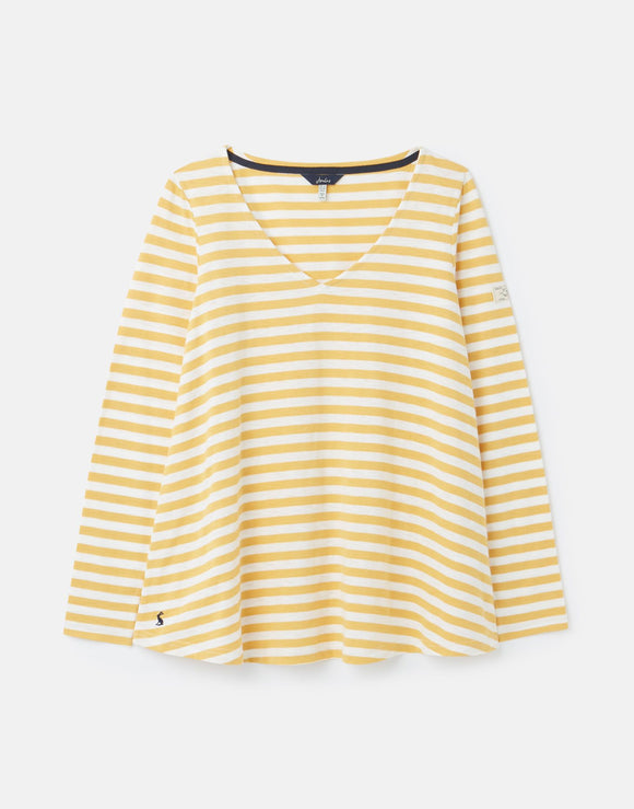 Joules Harbour Lightweight Swing V-Neck Jersey Top