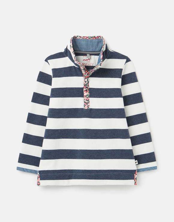 Joules Girls Saunton Half Zip Sweatshirt