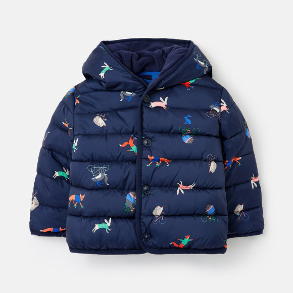 Joules Jessie Printed Padded Coat
